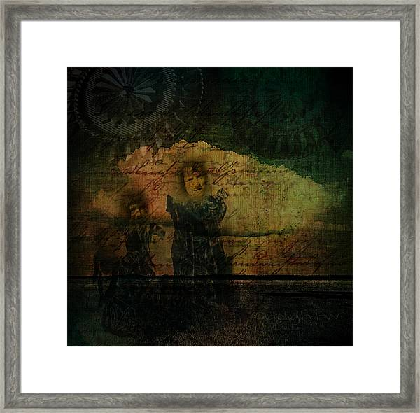 Sisters At The Shore Framed Print