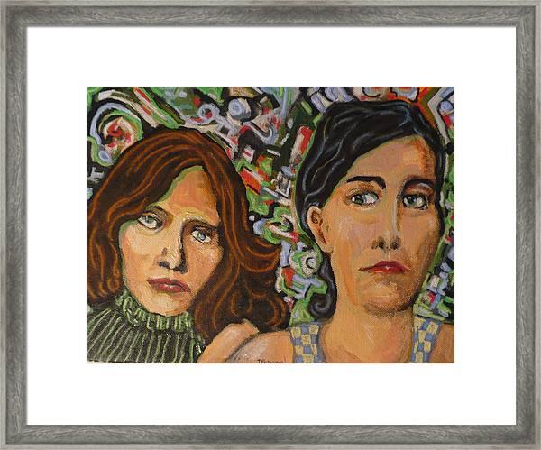 Sisters In Art Framed Print