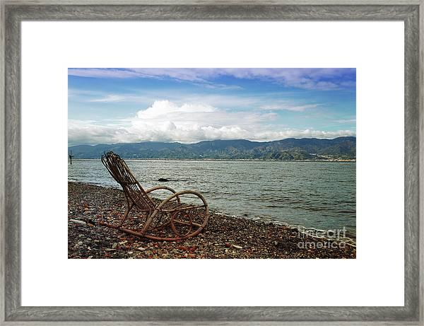 Sit Back And Enjoy Framed Print