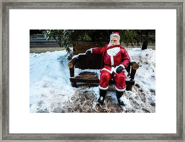 Sit With Santa Framed Print