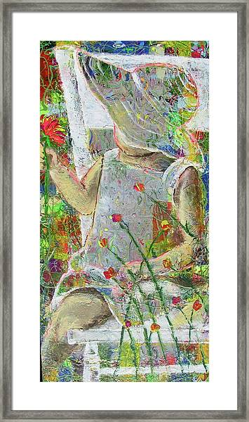 Sitting A Spell... Framed Print