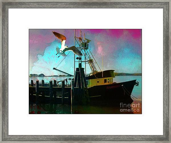 Sitting On The Dock Of The Bay Framed Print