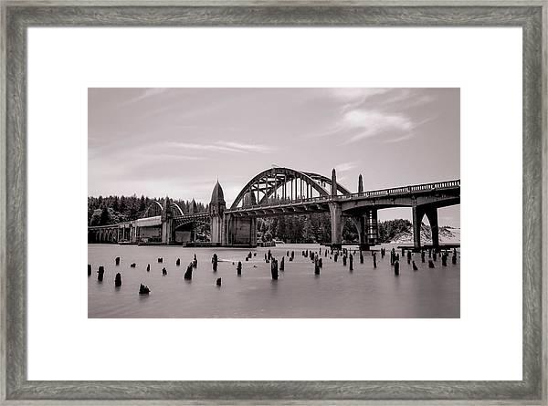 Siuslaw River Bridge Framed Print