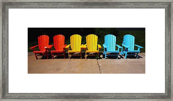 Six Chairs Framed Print