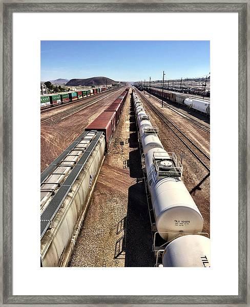 Six Trains Framed Print