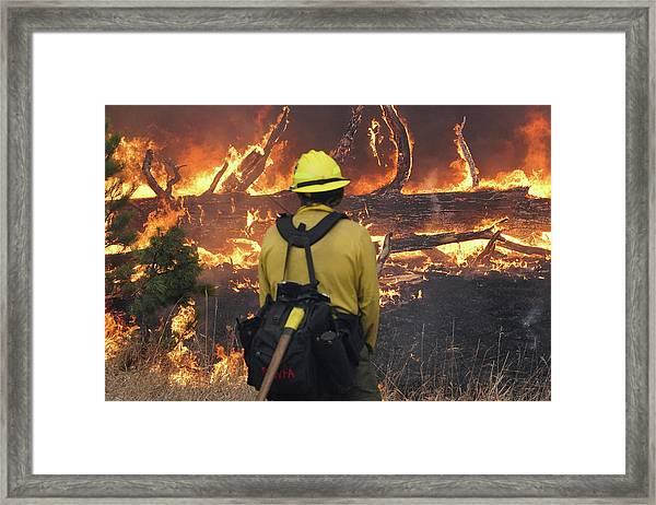 Framed Print featuring the photograph Legion Lake Fire by Bill Gabbert