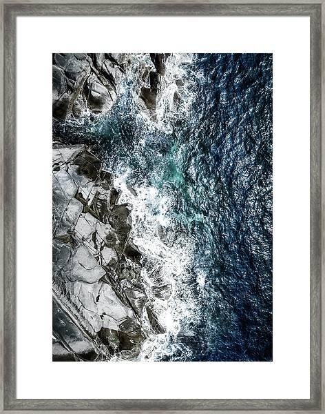 Skagerrak Coastline - Aerial Photography Framed Print