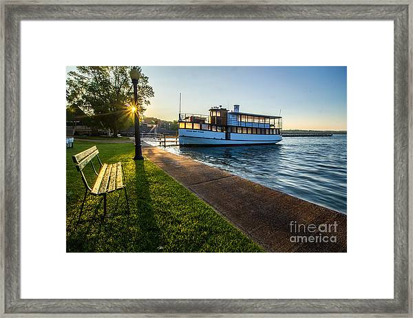 Skaneateles Lake Sunrise Framed Print