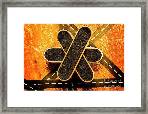 Skateboarding Star Framed Print