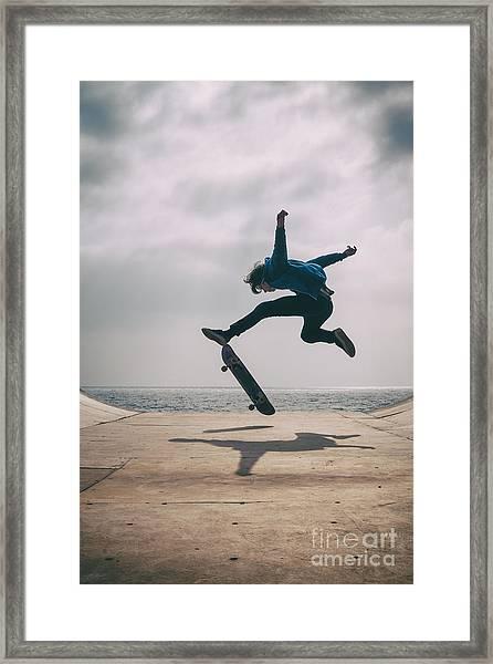 Skater Boy 003 Framed Print