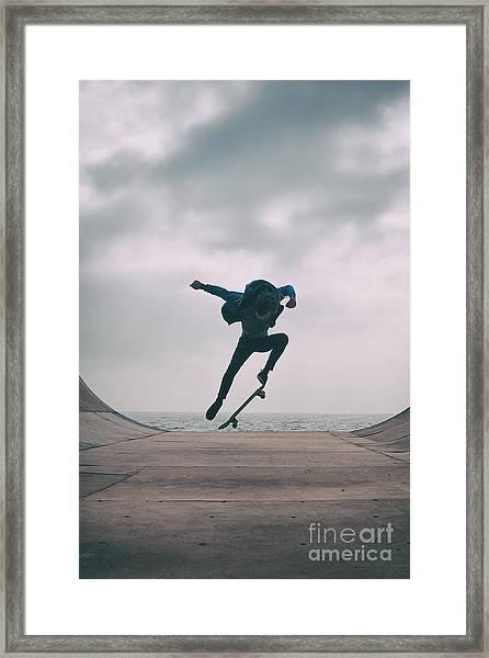 Skater Boy 004 Framed Print