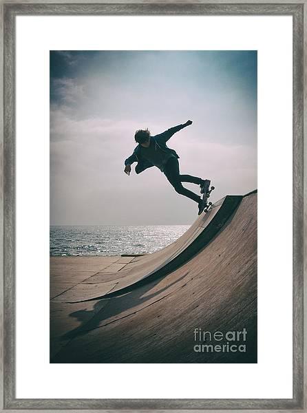 Skater Boy 007 Framed Print