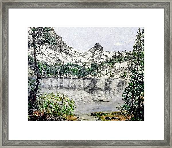 Framed Print featuring the painting Skelton Lake by Kevin Daly