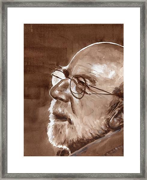 Sketch Of Bill Framed Print