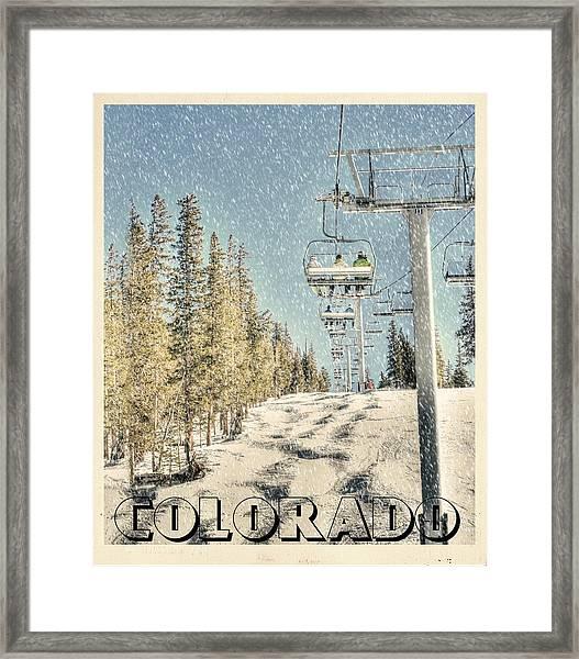 Ski Colorado Framed Print