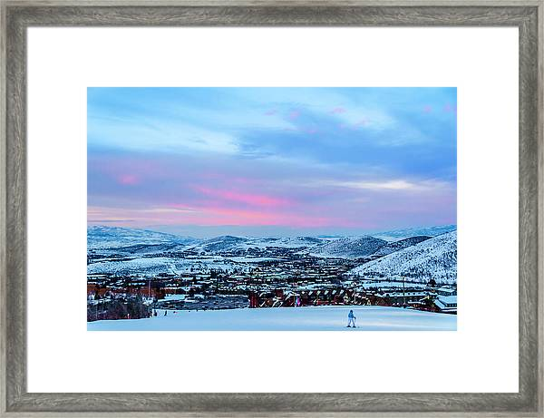 Ski Town Framed Print