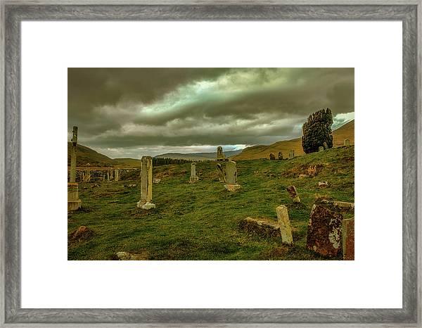 Skies And Headstones #g9 Framed Print
