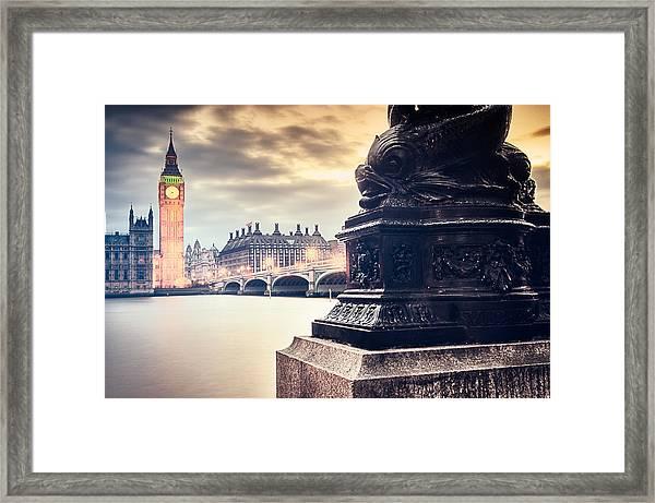 Skies Over London Framed Print