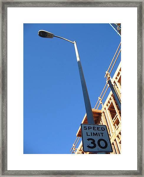 Skies The Limit Framed Print by Ricky Sencion