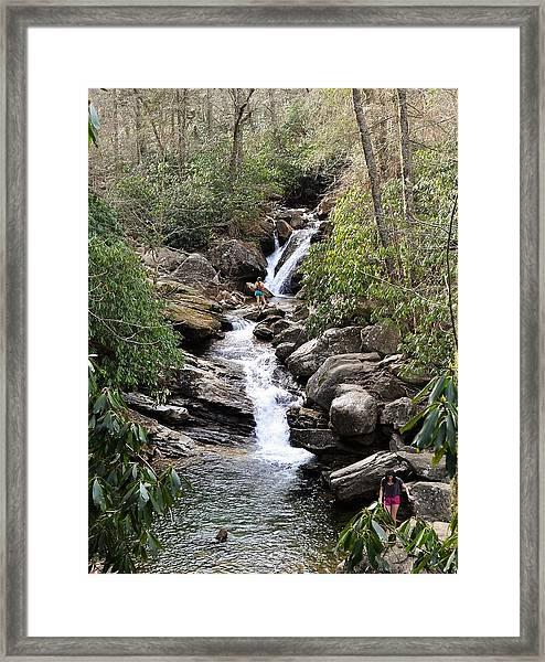 Skinny Dip Falls Framed Print