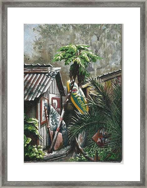 Skippers Smokehouse At Daylight Framed Print