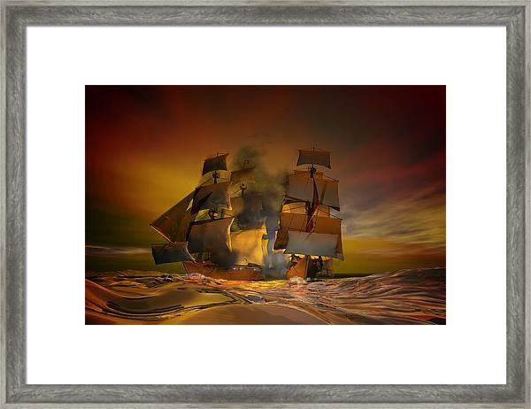 Skirmish Framed Print
