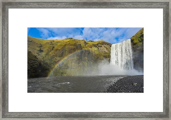 Skogafoss Rainbow Framed Print