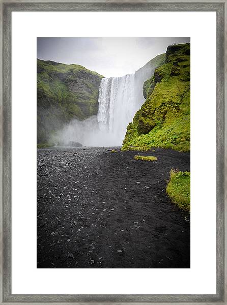 Skogafoss The Entrance To Fimmvorduhals Framed Print