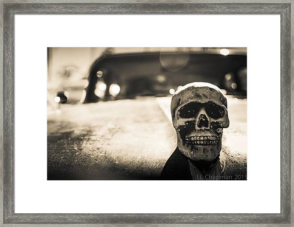 Skull Car Framed Print