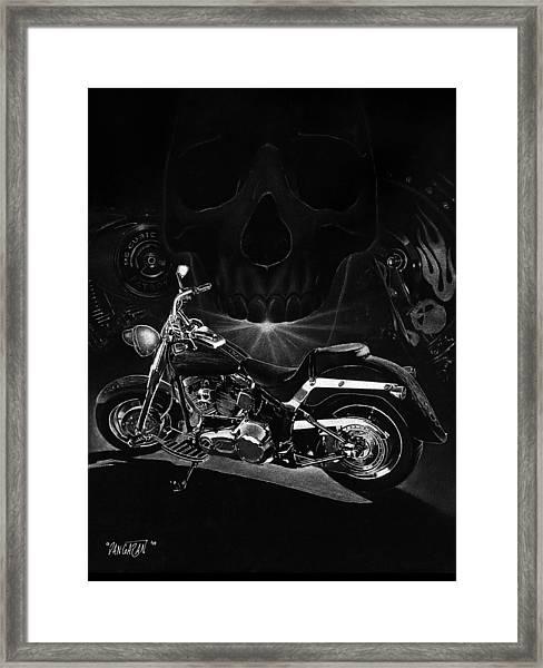 Skull Harley Framed Print