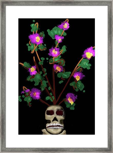 Skull Vase Framed Print