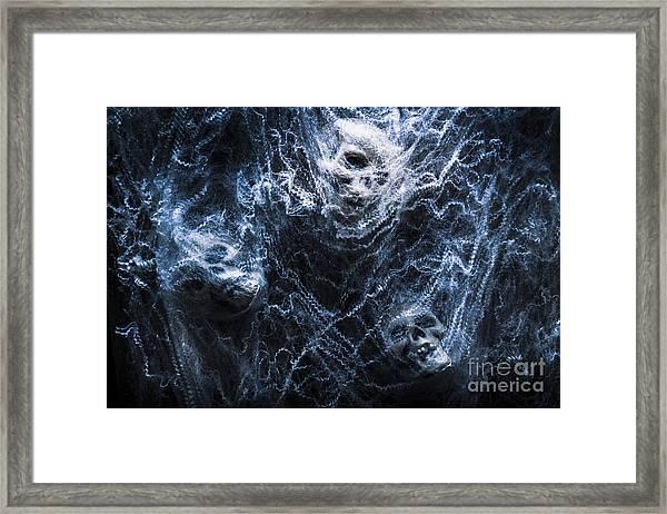 Skulls Tangled In Fear Framed Print