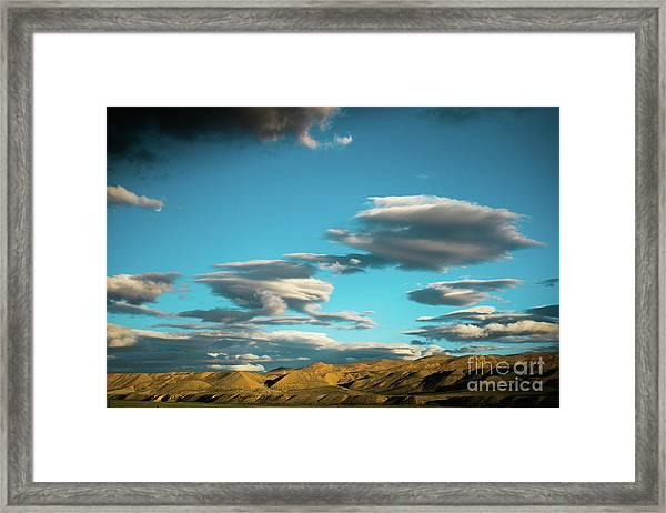 Sky And Clouds Garuda Valley Tibet Yantra.lv Framed Print