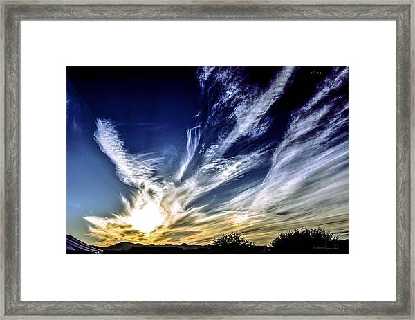 Sky Artistry Over Chandler Arizona Framed Print