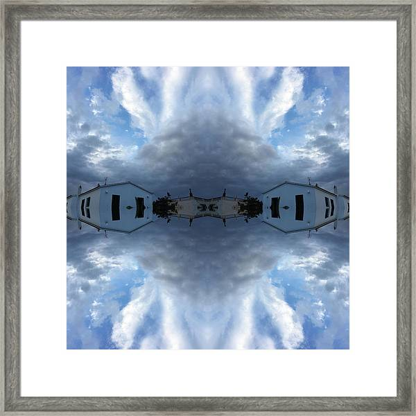Clouds And Houses I Framed Print