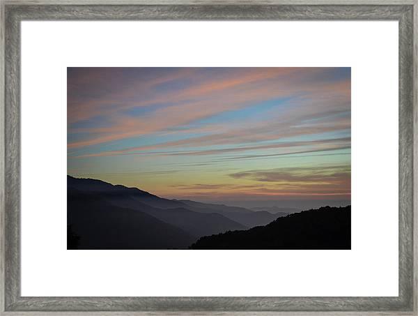 Sky Haze Framed Print