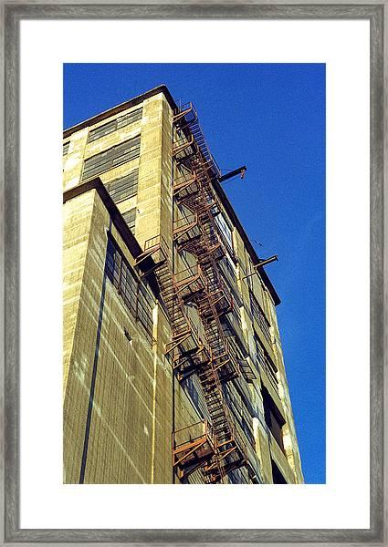 Sky High Warehouse Framed Print