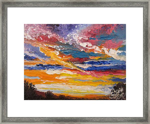 Sky In The Morning.             Sailor Take Warning  Framed Print