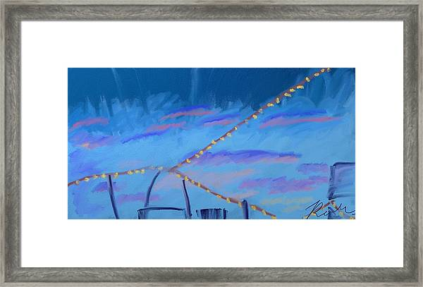Sky Lights Framed Print