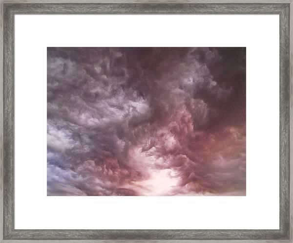 Sky Moods - Calling The Elements Together Framed Print