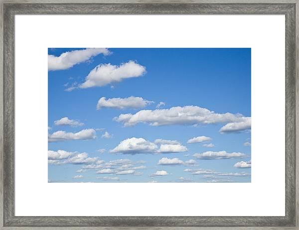 Sky Of Clouds Framed Print