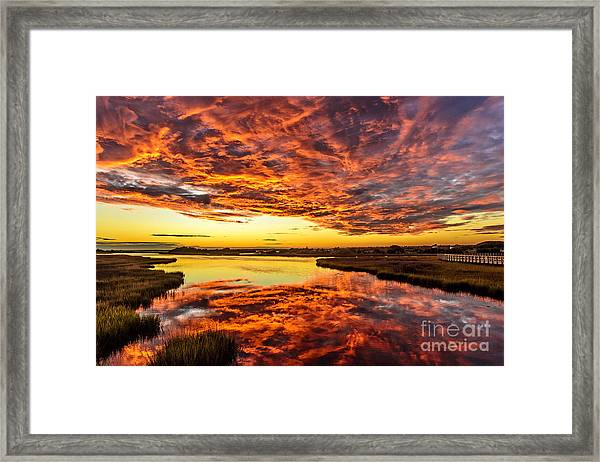Framed Print featuring the photograph Sky On Fire by DJA Images