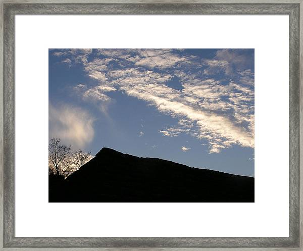 Sky Over Ft. Negley Framed Print by Randy Muir