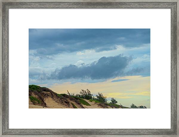 Sky Over Maceneta Beach Mozambique Framed Print