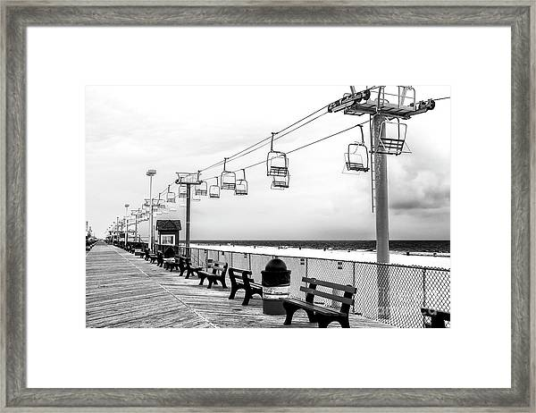 Sky Ride At Seaside Heights Framed Print