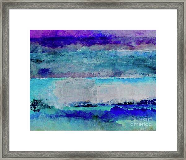 Sky Striations Framed Print