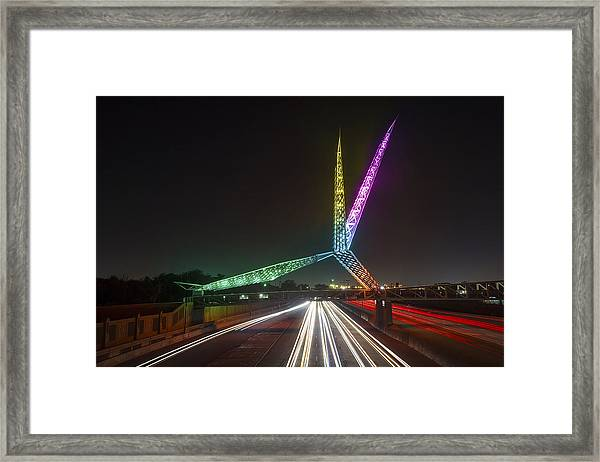 Skydance Bridge Okc Framed Print