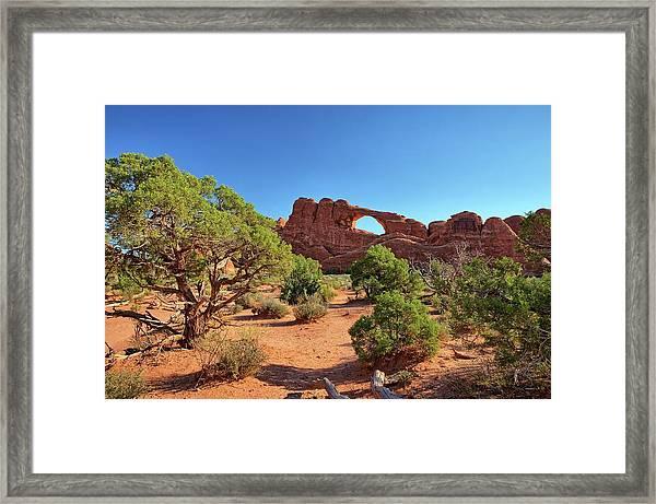 Skyline Arch Framed Print
