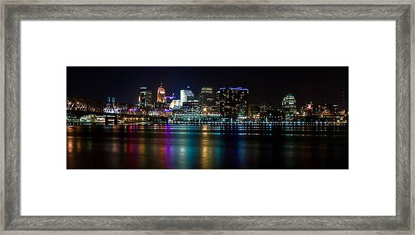 Skyline At Night Framed Print