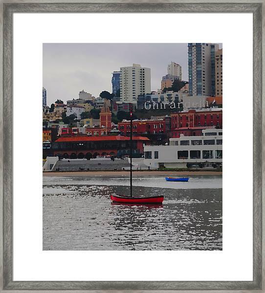 Skyline At The Bay Framed Print